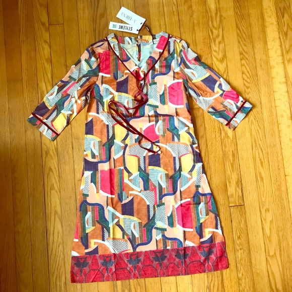 6b213a3d6a StyleWe A-Thena multi-color retro tunic dress. NWT